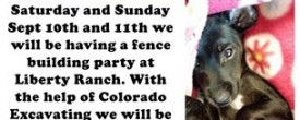 DDRT Fence Building Party @ Liberty Ranch*Sept 10-11 2016