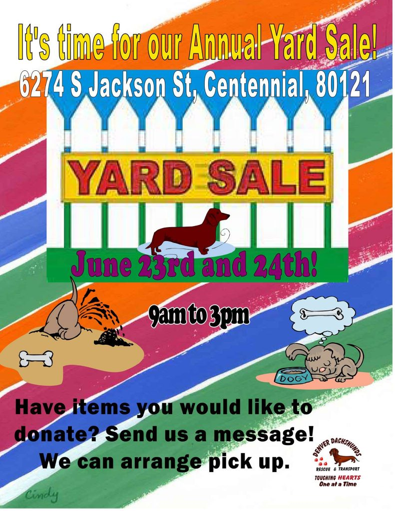 DDRT Yard Sale*June 23 2017*9-3 @ DDRT Yard Sale | Centennial | Colorado | United States