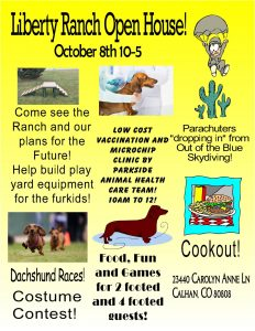 DDRT Open House at Liberty Ranch*Oct 08 2017*10-5 @ Liberty Ranch | Calhan | Colorado | United States